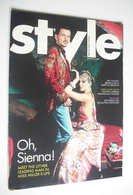 <!--2005-01-16-->Style magazine - Sienna Miller and Matthew Williamson cove