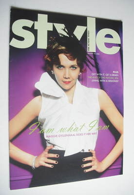 <!--2005-01-30-->Style magazine - Maggie Gyllenhaal cover (30 January 2005)