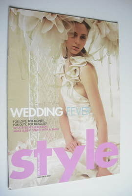 <!--2005-02-06-->Style magazine - Wedding Fever cover (6 February 2005)