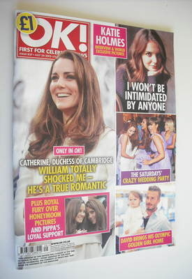 <!--2012-07-24-->OK! magazine - Kate Middleton cover (24 July 2012 - Issue