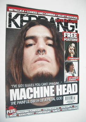 <!--2007-07-07-->Kerrang magazine - Machine Head cover (7 July 2007 - Issue