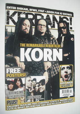 <!--2007-07-14-->Kerrang magazine - Korn cover (14 July 2007 - Issue 1167)