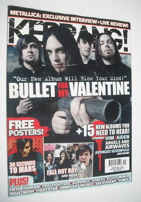 <!--2007-07-21-->Kerrang magazine - Bullet For My Valentine cover (21 July