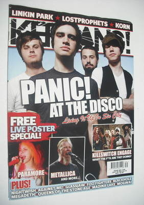 <!--2007-07-28-->Kerrang magazine - Panic! At The Disco cover (28 July 2007