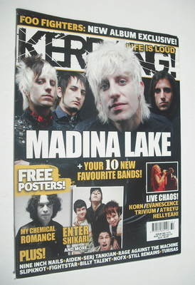 <!--2007-08-11-->Kerrang magazine - Madina Lake cover (11 August 2007 - Iss