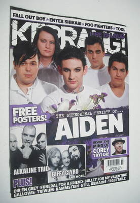 <!--2007-08-18-->Kerrang magazine - Aiden cover (18 August 2007 - Issue 117