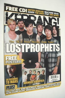 <!--2007-08-25-->Kerrang magazine - Lostprophets cover (25 August 2007 - Is