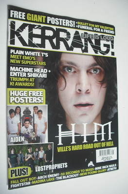 <!--2007-09-01-->Kerrang magazine - HIM Ville Valo cover (1 September 2007