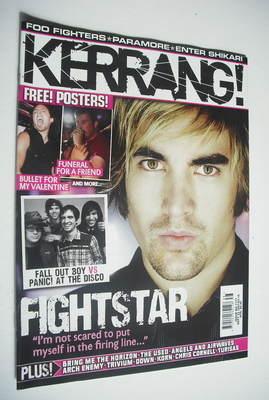 <!--2007-09-22-->Kerrang magazine - Fightstar cover (22 September 2007 - Is