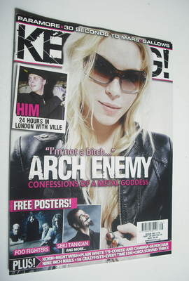 <!--2007-09-29-->Kerrang magazine - Angela Gossow cover (29 September 2007