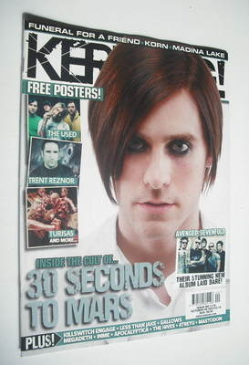 <!--2007-10-06-->Kerrang magazine - Jared Leto cover (6 October 2007 - Issu
