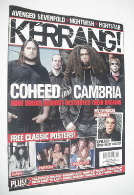 <!--2007-10-13-->Kerrang magazine - Coheed and Cambria cover (13 October 20