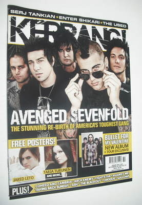 <!--2007-10-20-->Kerrang magazine - Avenged Sevenfold cover (20 October 200