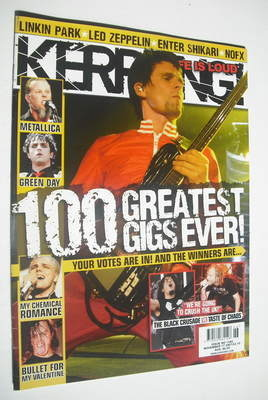 <!--2007-11-17-->Kerrang magazine - Matt Bellamy cover (17 November 2007 -
