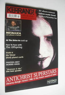 <!--2001-02-24-->Kerrang magazine - Dimmu Borgir cover (24 February 2001 -