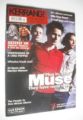 <!--2001-03-03-->Kerrang magazine - Muse cover (3 March 2001 - Issue 842)