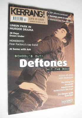 <!--2001-03-24-->Kerrang magazine - Deftones cover (24 March 2001 - Issue 8