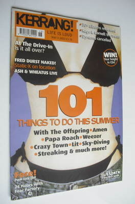 <!--2001-05-05-->Kerrang magazine - 101 Things To Do This Summer cover (5 M