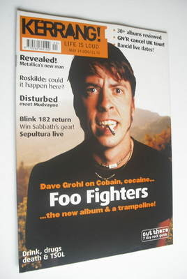 <!--2001-05-19-->Kerrang magazine - Dave Grohl cover (19 May 2001 - Issue 8