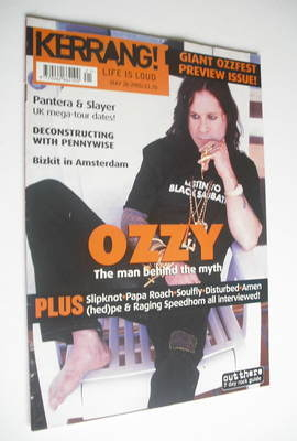 <!--2001-05-26-->Kerrang magazine - Ozzy Osbourne cover (26 May 2001 - Issu
