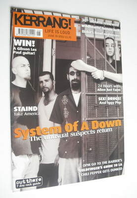 <!--2001-06-30-->Kerrang magazine - System Of A Down cover (30 June 2001 -