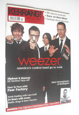 <!--2001-07-07-->Kerrang magazine - Weezer cover (7 July 2001 - Issue 860)