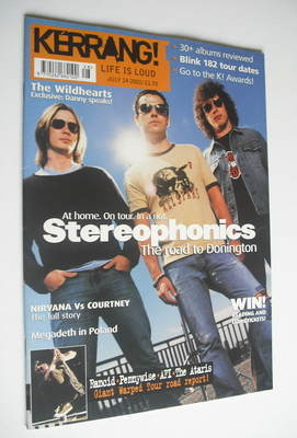 <!--2001-07-14-->Kerrang magazine - Stereophonics cover (14 July 2001 - Iss