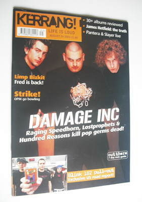<!--2001-08-04-->Kerrang magazine - Lostprophets/Raging Speedhorn/Hundred R