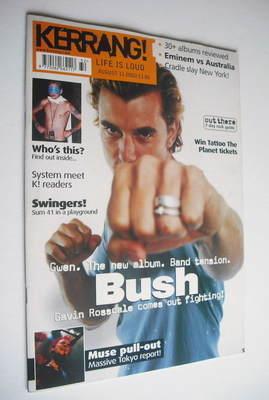<!--2001-08-11-->Kerrang magazine - Gavin Rossdale cover (11 August 2001 -