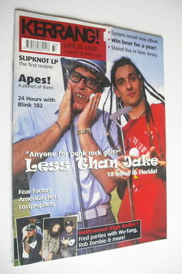 <!--2001-08-18-->Kerrang magazine - Less Than Jake cover (18 August 2001 -