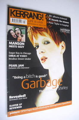 <!--2001-09-01-->Kerrang magazine - Shirley Manson cover (1 September 2001