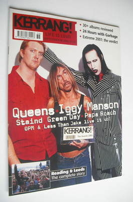<!--2001-09-08-->Kerrang magazine - Kerrang Awards 2001 cover (8 September