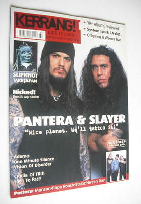<!--2001-09-15-->Kerrang magazine - Pantera & Slayer cover (15 September 20