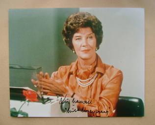 Lois Maxwell autograph