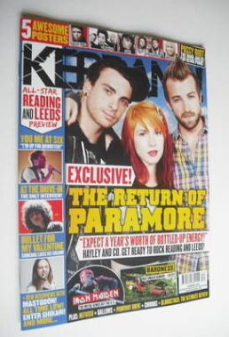 <!--2012-08-25-->Kerrang - Paramore cover (25 August 2012 - Issue 1429)