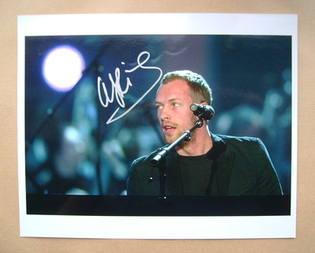 Chris Martin autograph