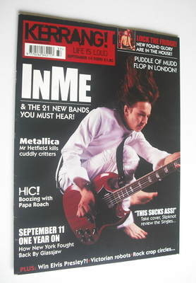 <!--2002-09-14-->Kerrang magazine - INME cover (14 September 2002 - Issue 9