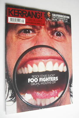 <!--2002-09-28-->Kerrang magazine - Dave Grohl cover (28 September 2002 - I