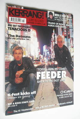 <!--2002-10-19-->Kerrang magazine - Feeder cover (19 October 2002 - Issue 9