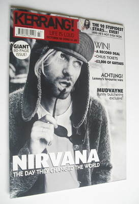 <!--2002-10-26-->Kerrang magazine - Kurt Cobain cover (26 October 2002 - Is