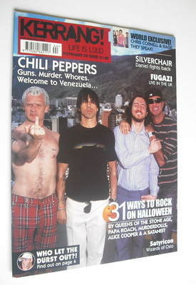<!--2002-11-02-->Kerrang magazine - Red Hot Chili Peppers cover (2 November