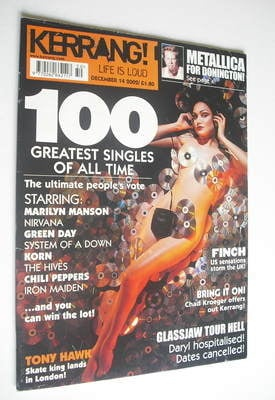 <!--2002-12-14-->Kerrang magazine - 100 Greatest Singles Of All Time cover