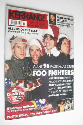 <!--2002-12-21-->Kerrang magazine - Foo Fighters cover (21-28 December 2002