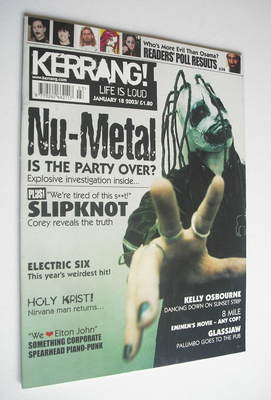 <!--2003-01-18-->Kerrang magazine - Slipknot cover (18 January 2003 - Issue