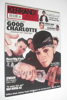 <!--2003-02-01-->Kerrang magazine - Good Charlotte cover (1 February 2003 -
