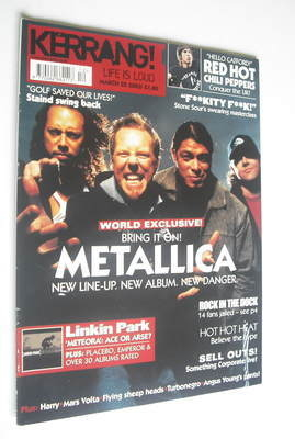 <!--2003-03-22-->Kerrang magazine - Metallica cover (22 March 2003 - Issue