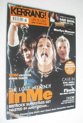 <!--2003-04-12-->Kerrang magazine - INME cover (12 April 2003 - Issue 950)