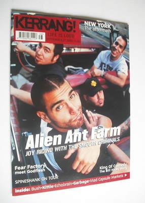 <!--2001-09-22-->Kerrang magazine - Alien Ant Farm cover (22 September 2001