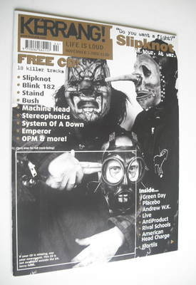 <!--2001-11-03-->Kerrang magazine - Slipknot cover (3 November 2001 - Issue