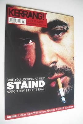 <!--2001-11-10-->Kerrang magazine - Aaron Lewis cover (10 November 2001 - I